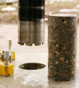 инструмент - алмазная сверление, бетона - перекрытие 05