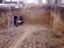 Земляные работы, рытье и копка траншей, котлованов