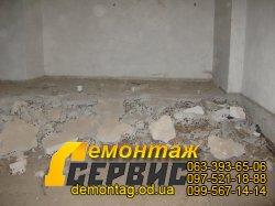 Демонтаж стяжки, фото стяжки на керамзитовой подсыпке 1