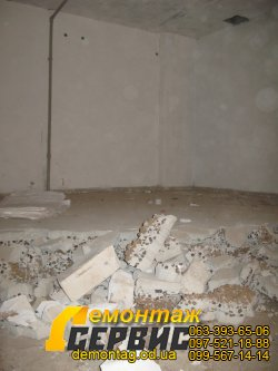 Демонтаж стяжки, фото стяжки на керамзитовой подсыпке 2