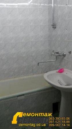 Демонтаж плитки цена от 20 грн/м2 в  Одессе - в ванной