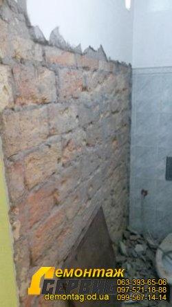 Демонтаж плитки цена от 20 грн/м2 в  Одессе  и штукатурки