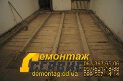 Демонтаж полов - старый фонд в Одессе 1, очистка от засыпки