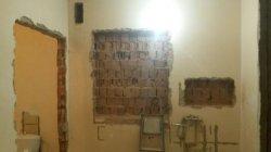 Вырезать ниши в стене - Одесса, полка в ванной комнате 1