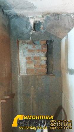 Вырезать ниши в стене - Одесса, полка в ванной комнате 4