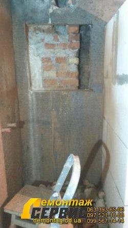 Вырезать ниши в стене - Одесса, полка в ванной комнате 3