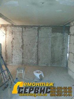 Демонтаж штукатурки цена от 20 грн/м2 Одесса - удаление штукатурки, стена кирпич 05