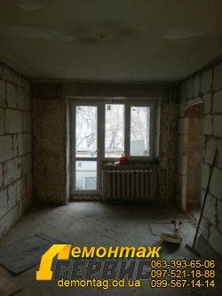 Демонтаж штукатурки цена от 30 грн/м2 Одесса - удаление штукатурки, стена кирпич 04