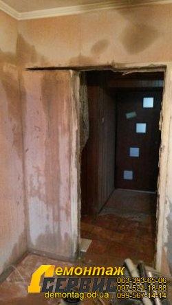 Проёмы в стене, 16 см,  расширение между коридором и спальней 2