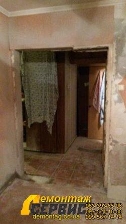 Проёмы в стене, 16 см,  расширение между коридором и спальней 4
