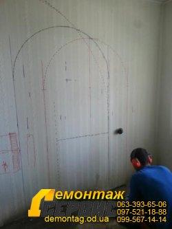 Проёмы в стене, 10 см,  проём арка 01
