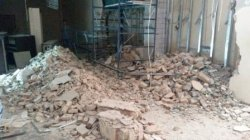 Снос стен и перегородок ракушняк - ударный метод - Одесса 02