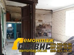 Снос стен и перегородок из дерева(дранка) - безударный метод - Одесса 04