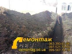Земляные работы и рытье траншеи вручную - цена от 250 грн/м3 - Одесса 01t